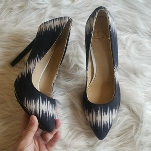 Gwen Stefani Black & White Cloth Stilettos Heels 8